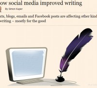 How social media has improved writing