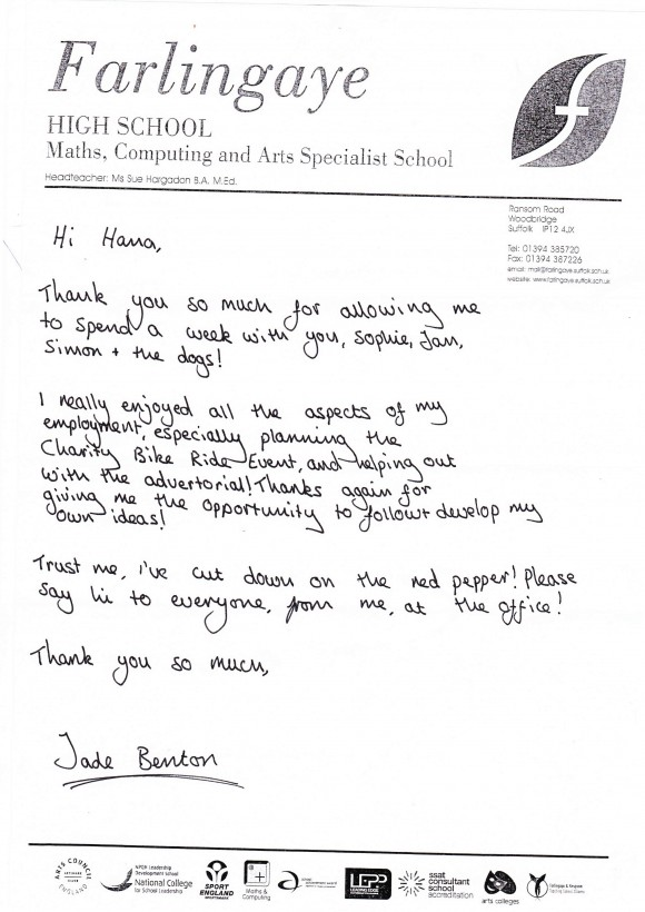 thank you letters for work experience images letter format formal